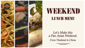 Pan Asian Weekend Lunch Menu
