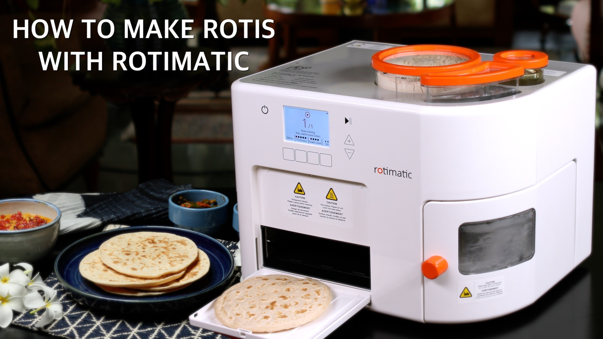 How to make Rotis with Rotimatic – The Automatic Roti Maker