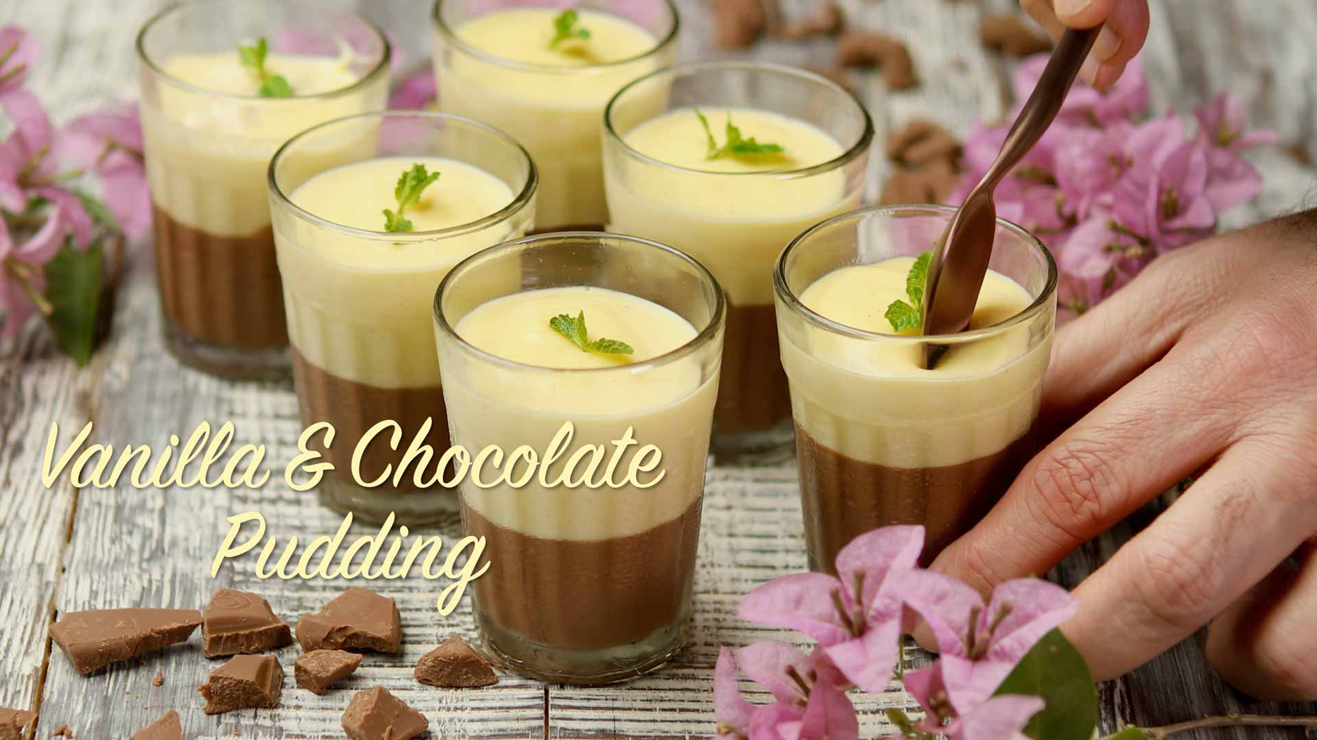Vanilla and Chocolate Pudding Recipe | How to Make Vanilla Chocolate Pudding