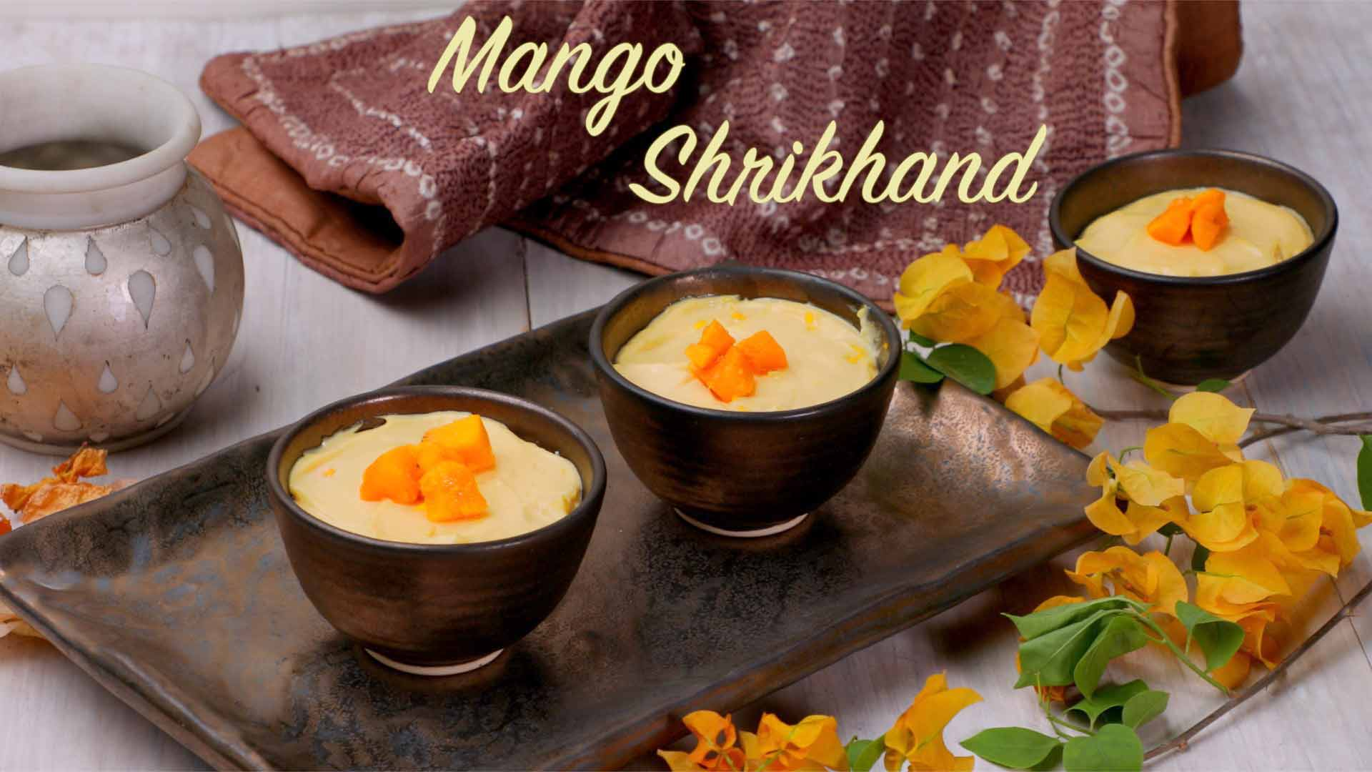 Mango Shrikhand Recipe | Amrakhand | Easy Mango Yogurt Recipe