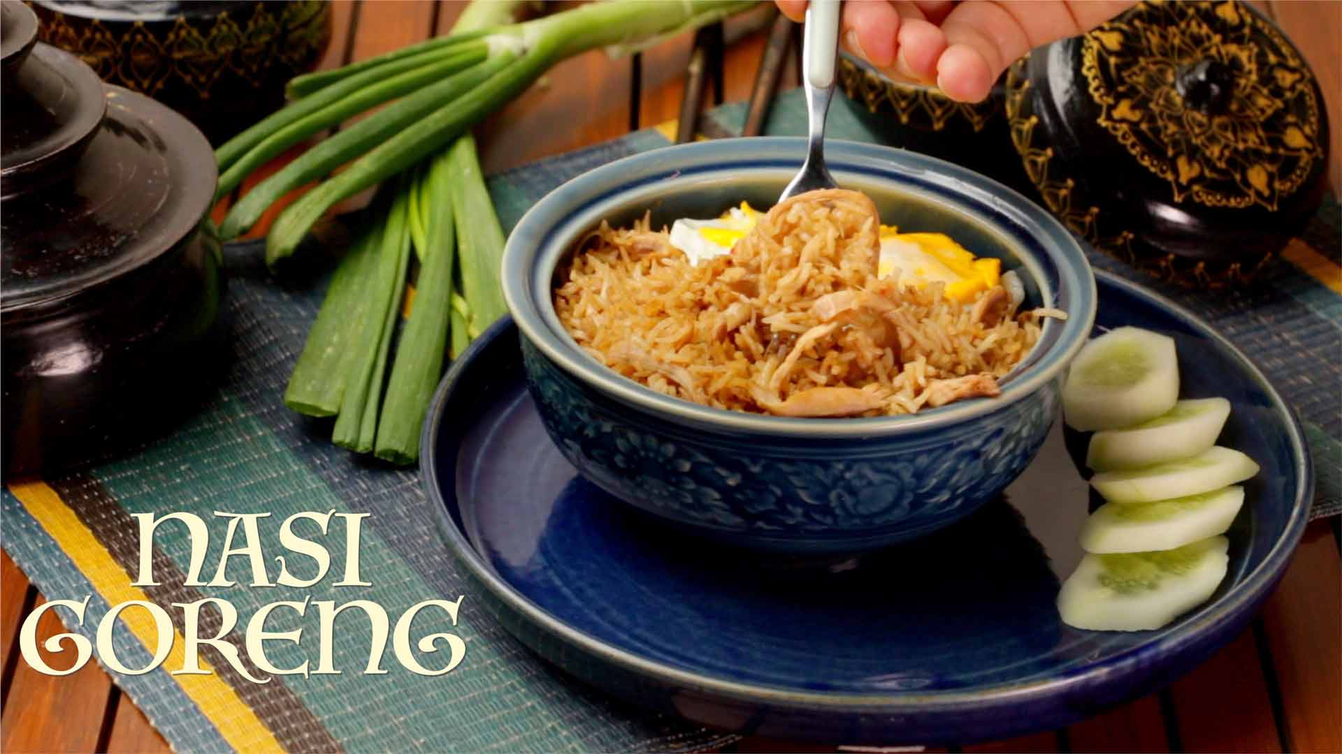 Nasi Goreng Recipe | Chicken Fried Rice | Indonesian Style Fried Rice