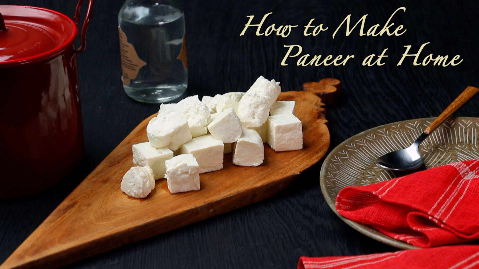 How to Make Paneer at Home  Quick and Easy