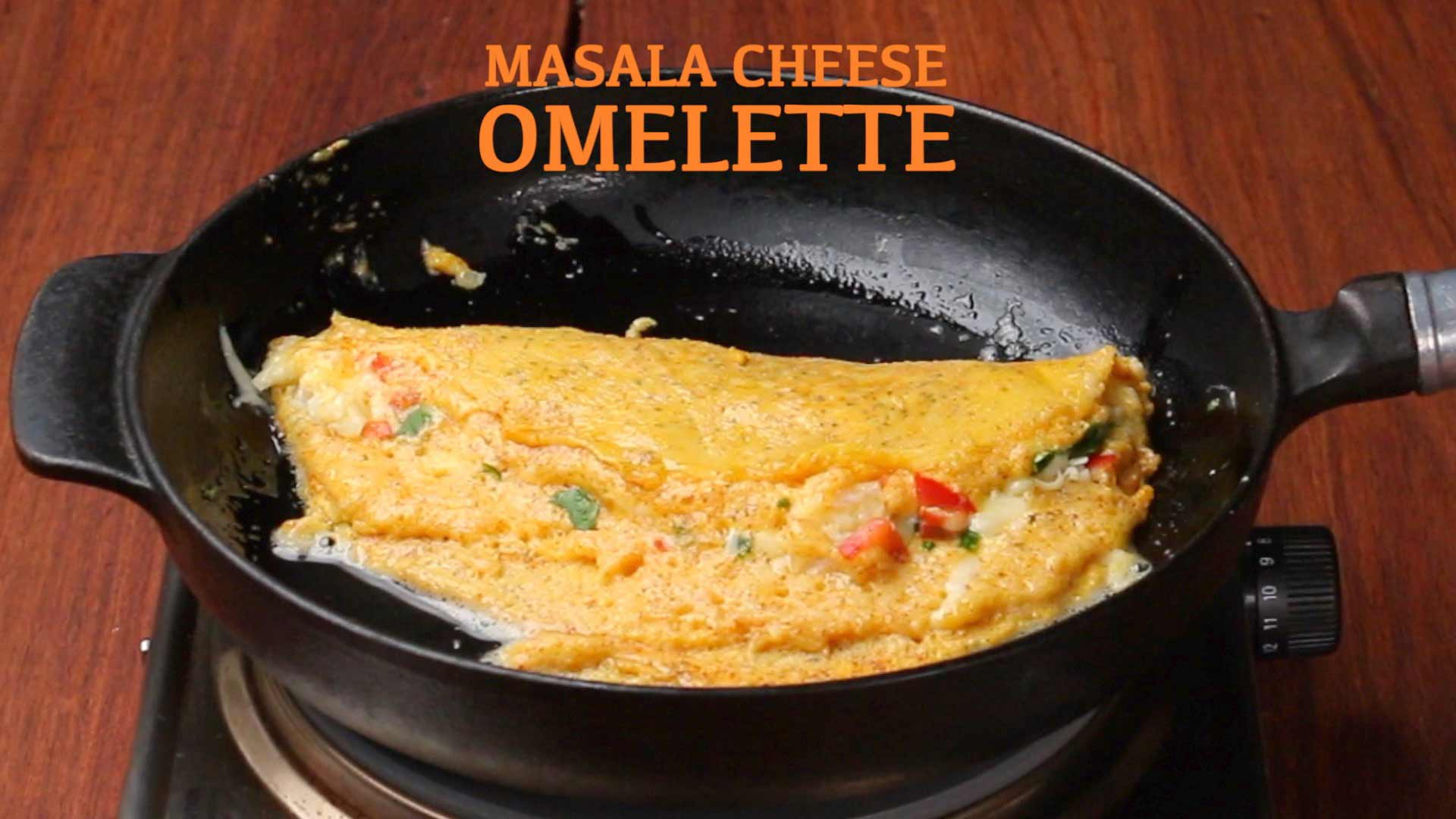 Masala Cheese Omelette Recipe Indian Style