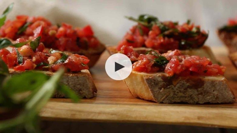 Tomato and Basil Bruschetta Recipe