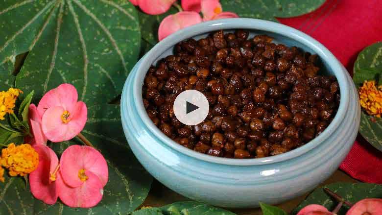 Sukha Kala Chana Masala Recipe
