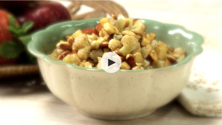 Apple Cauliflower and Peanut Salad Recipe